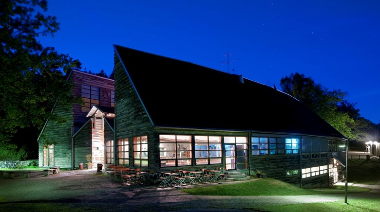 Vitlycke museum by night.